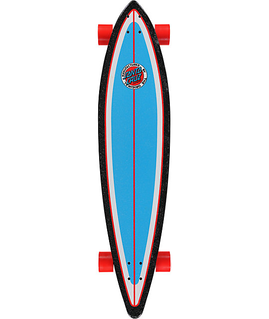 "Santa Cruz Land Shark Retro 43.5""  Pintail Longboard"