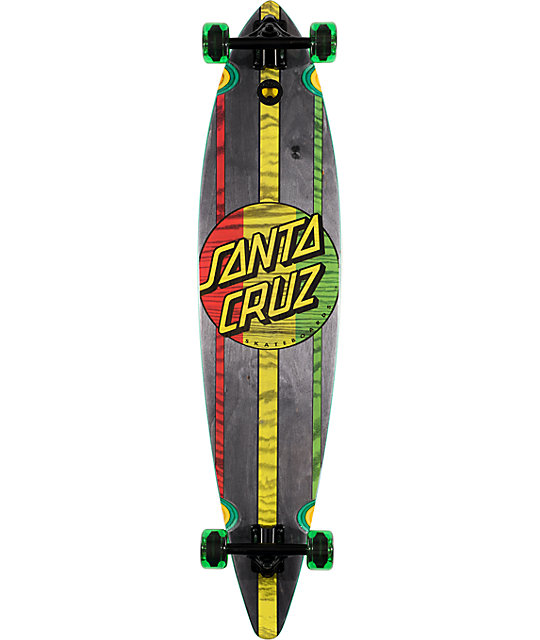 "Santa Cruz Mahaka Rasta 9.9""  Complete Longboard"