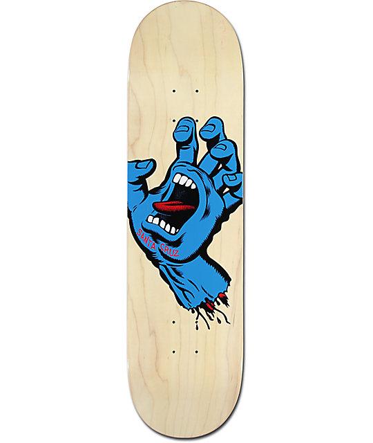 "Santa Cruz Minimal Hand 8.25"" Skateboard Deck"