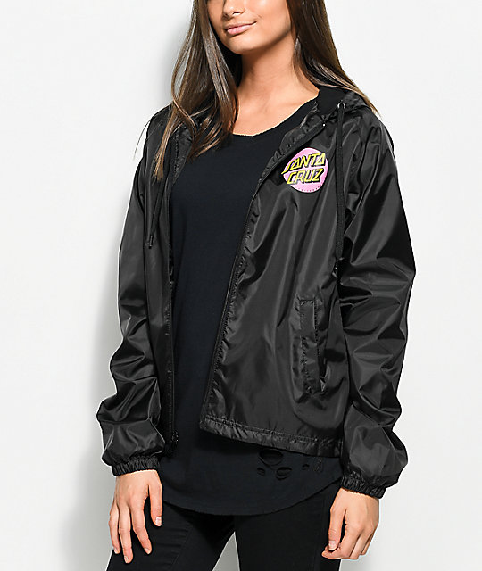 Santa Cruz Other Dot Black Windbreaker Jacket | Zumiez