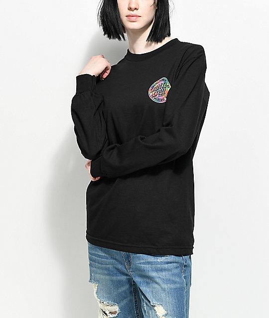 Santa Cruz Prisma Dot Black Long Sleeve T-Shirt