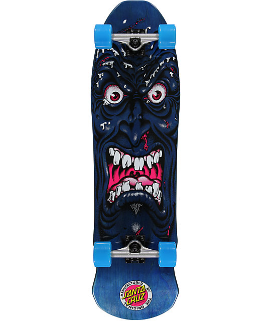"Santa Cruz Rob Roskopp Face Blue 35""  Cruiser Complete Skateboard"