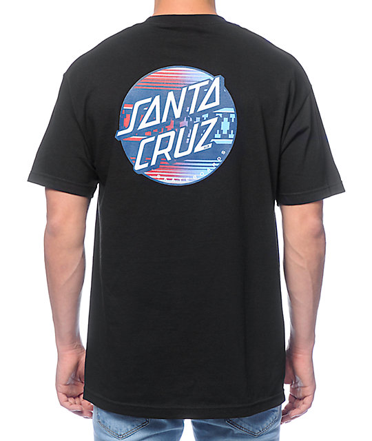 Santa Cruz Serape Dot Fade Black T-Shirt