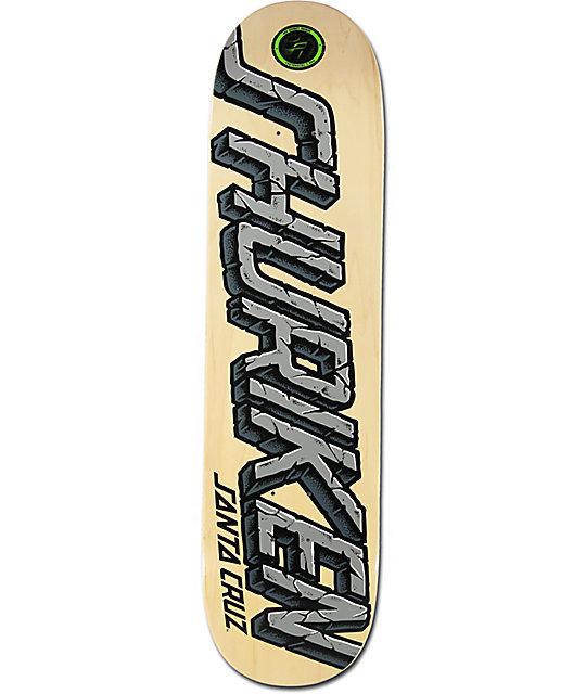 "Santa Cruz Shuriken Stone Strip P2 8.1""  Skateboard Deck"
