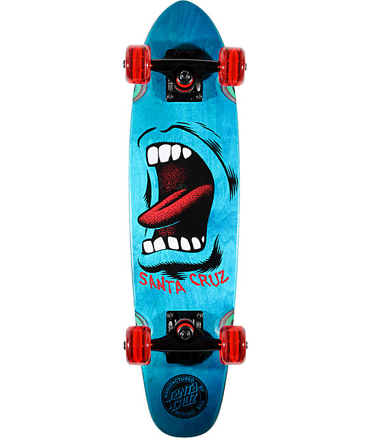 "Santa Cruz Sidewalk Screamer Cruzer 25""  Complete Skateboard"