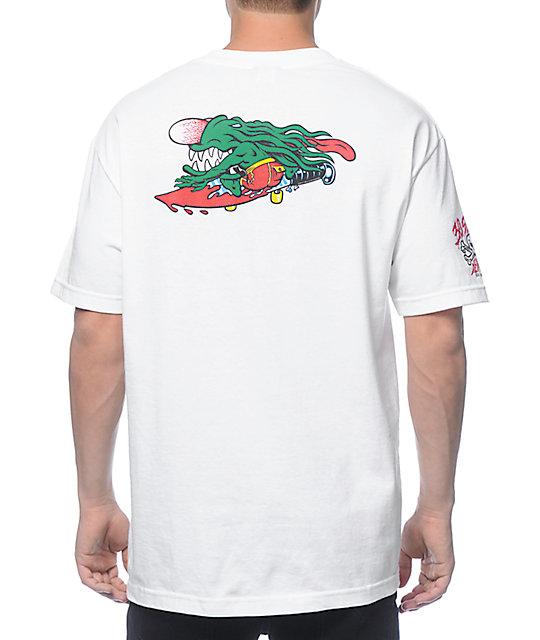 Santa Cruz Slasher White T-Shirt