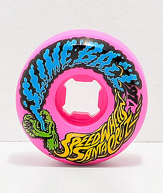 Santa Cruz Slime Balls 54mm Vomit Pink Skateboard Wheels
