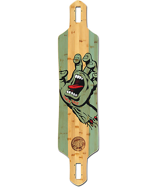 "Santa Cruz Stained Hand Bamboo 41"" Drop Through Longboard Deck"