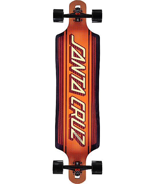 """Santa Cruz Strip Inlay Drop Through 40""""  Longboard Complete"""