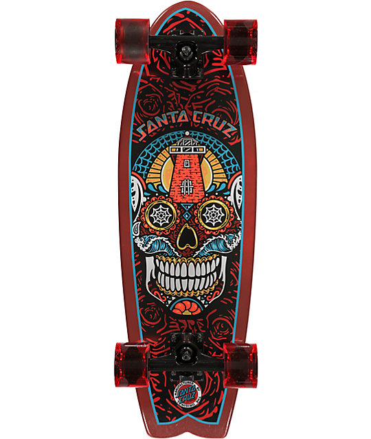 "Santa Cruz Sugar Skull Shark 27.7""  Cruiser Complete"