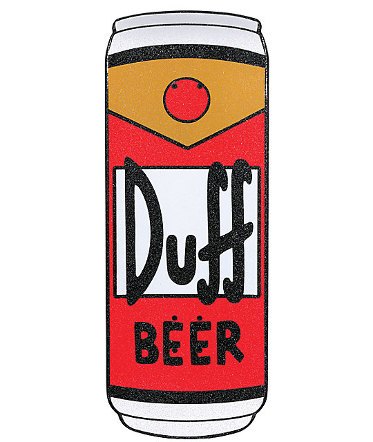 "Santa Cruz The Simpsons Duff Can 27.5""  Cruiser Skateboard"