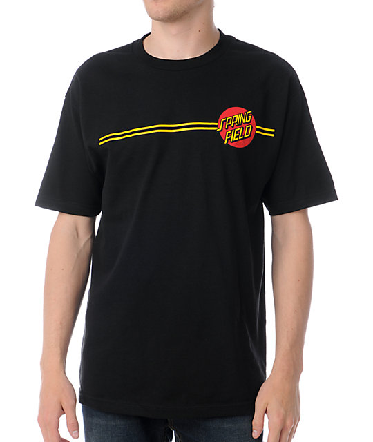 Santa Cruz The Simpsons Springfield Dot Black T-Shirt