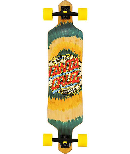 "Santa Cruz Trip Dot Tie Dye 38""  Bamboo Slalom Longboard"
