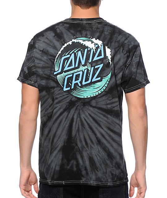 Santa Cruz Wave Dot Tie Dye T Shirt At Zumiez Pdp