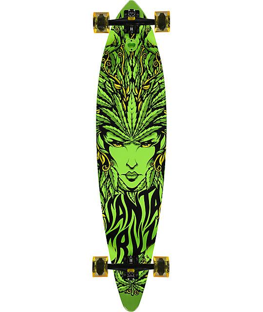"Santa Cruz Weed Goddess 43.5""  Pintail Longboard"