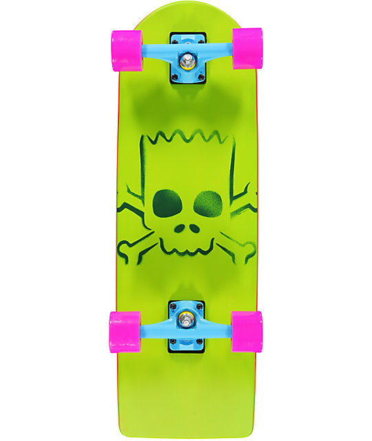 "Santa Cruz X The Simpsons Bart Simpson 27""  Cruiser Skateboard"