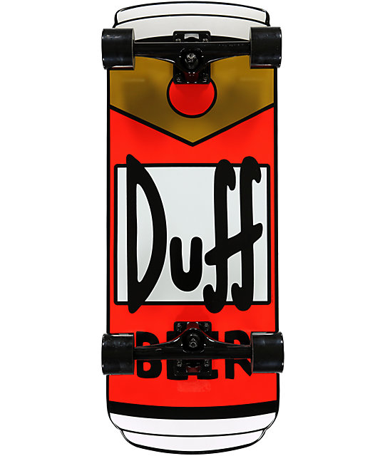 "Santa Cruz X The Simpsons Duff Can 27.5""  Complete Skateboard"
