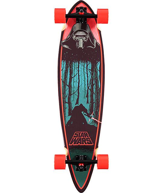 "Santa Cruz x Star Wars Episode VII Kylo Ren 39""  Pintail Longboard Complete"