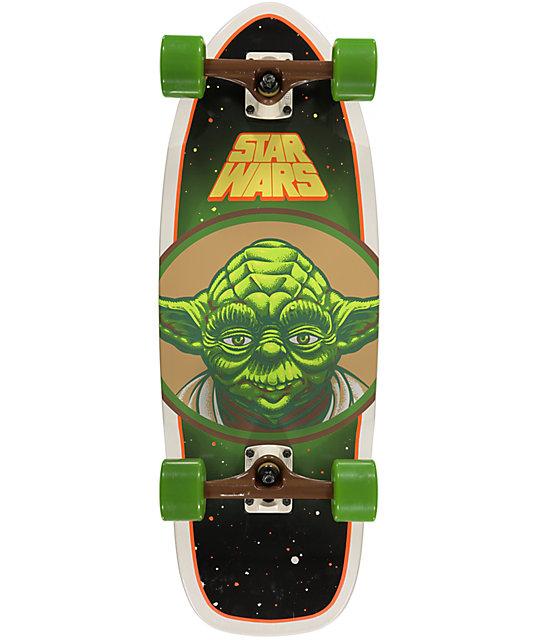 """Santa Cruz x Star Wars Yoda 28.5""""  Cruiser Complete Skateboard"""