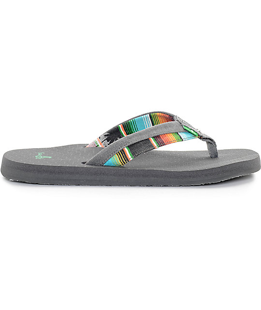 Sanuk Beer Cozy Light Funk Charcoal Sandals
