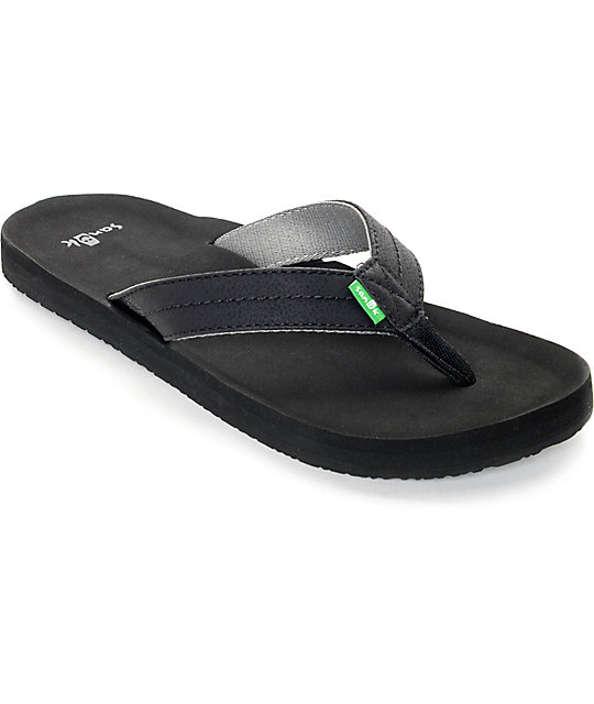 Sanuk Burm Black Sandals