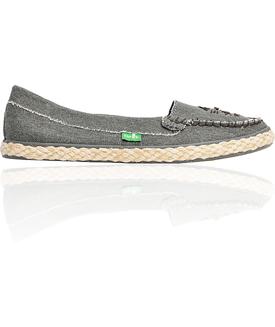Sanuk Espathrill Grey Canvas Shoes