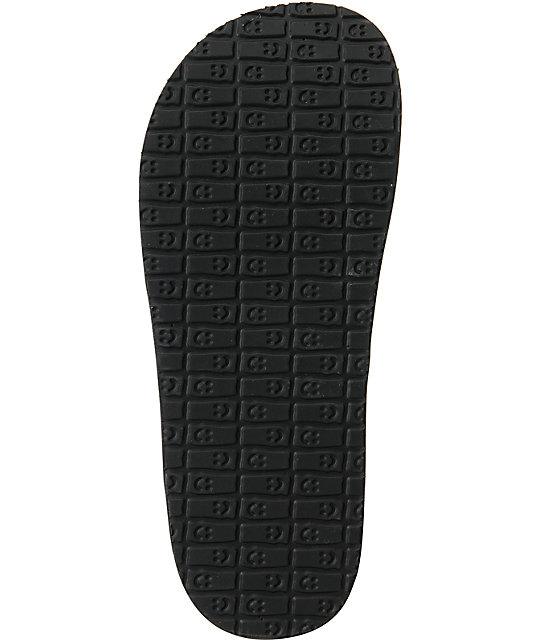 Sanuk Fault Line Black Beer Cozy Sandals