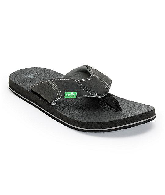 Sanuk Fault Line Charcoal Sandals