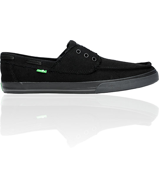 Sanuk Scurvy Carbon Black Shoes