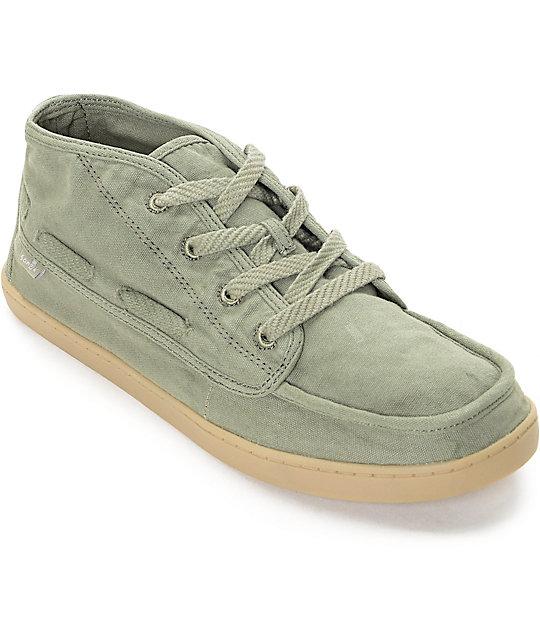 Sanuk Vee K Shawn Olive Shoes