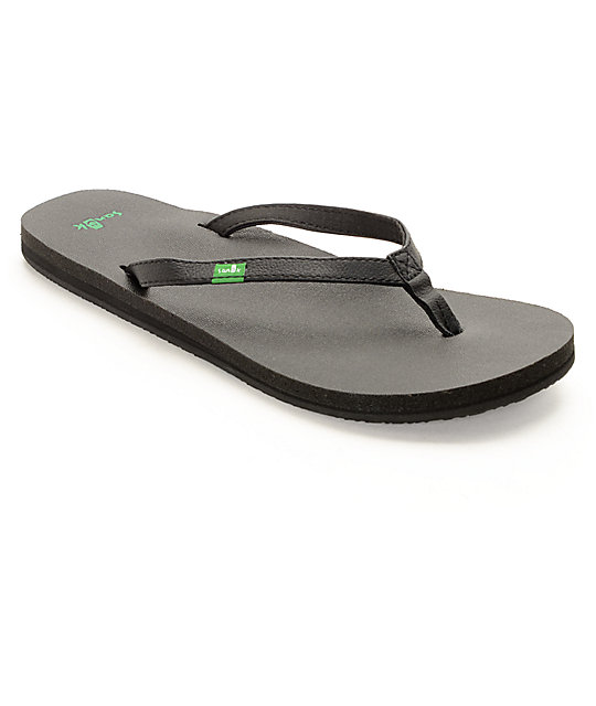 Sanuk Yoga Joy Black Sandals