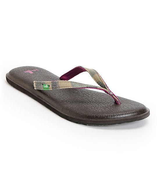 Sanuk Yoga Mat Spree Funk Brown & Camo Sandals