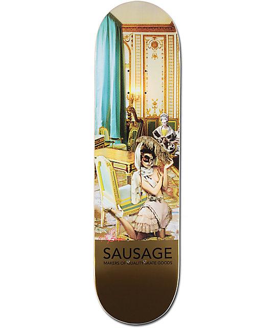 """Sausage Skateboards Mikey Gold Foil 8.25"""" Skateboard Deck"""