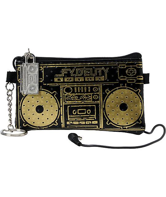 Scratch Tracks Pocito Black & Gold Mini Speaker Case