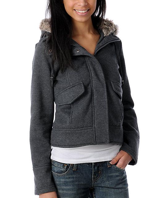 Sebby Fur Hooded Fleece Jacket