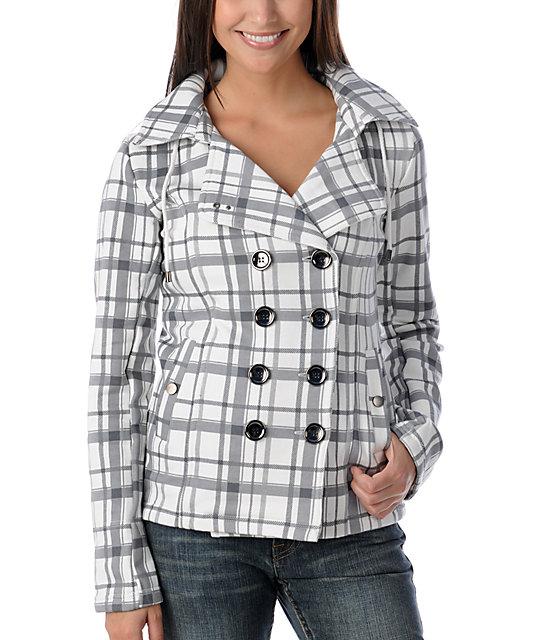 Sebby White Plaid Jacket