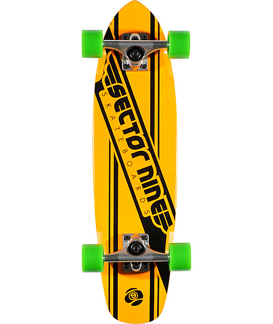 "Sector 9 76 Neon Orange 28""  Cruiser Complete"