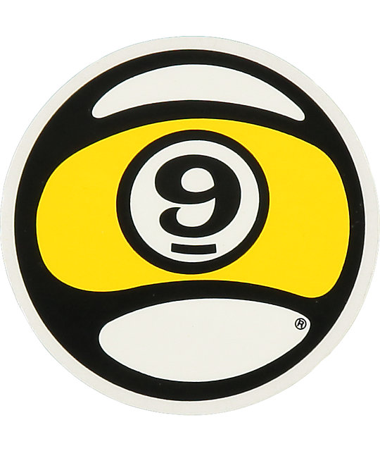 Sector 9 Ball Logo Sticker