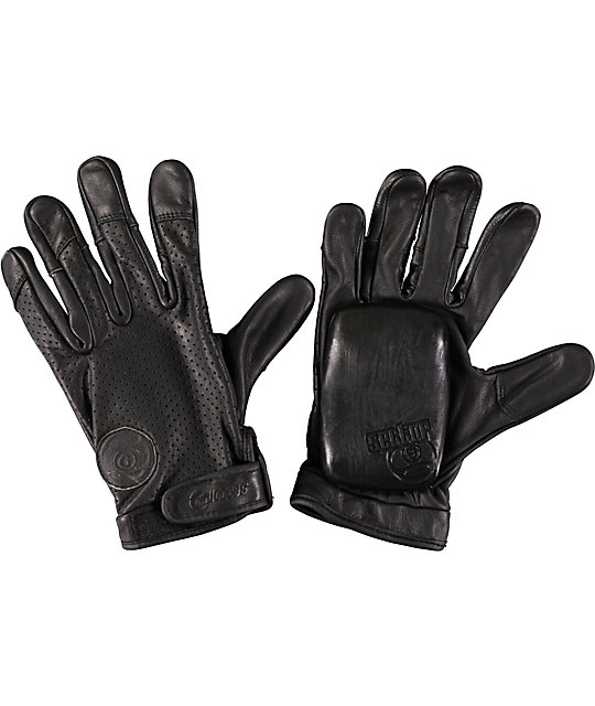 Sector 9 Driver Black Leather Slide Gloves