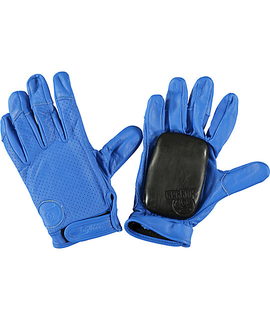 Sector 9 Driver Blue Leather Slide Gloves