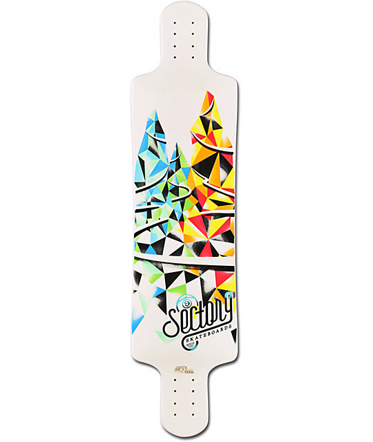 "Sector 9 Faultline 39.5""  Drop Down Longboard Deck"