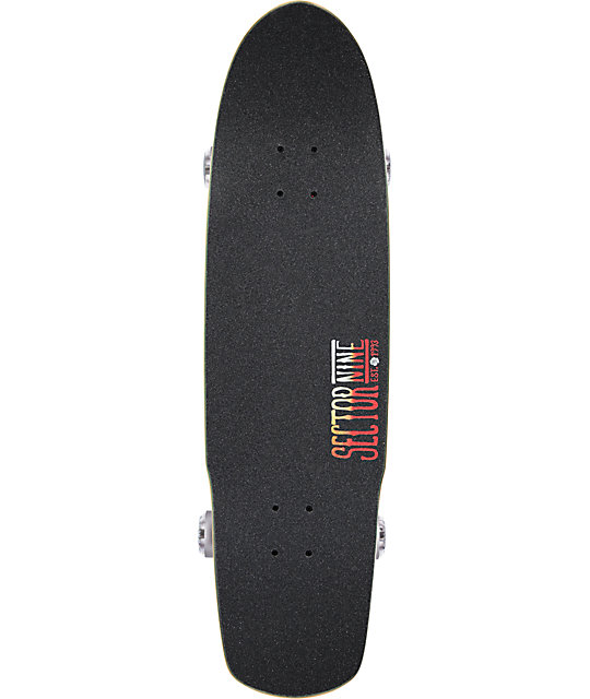 "Sector 9 Fission 33""  Cruiser Complete Skateboard"