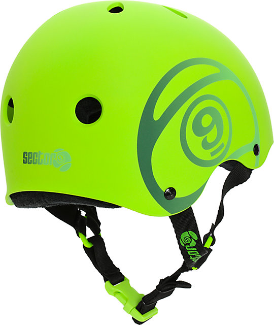 Sector 9 Logic 2 Green Skateboard Helmet