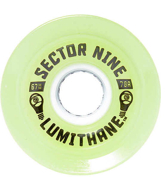 Sector 9 Lumithane Glow 67mm Longboard Wheels