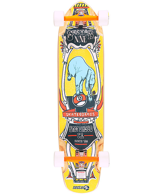 "Sector 9 Mini Daisy 37.5""  Cruiser Complete Skateboard"
