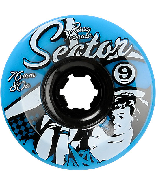 Sector 9 Race Formula 76mm Blue Skateboard Wheels