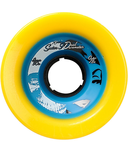 Sector 9 Race Formula Dual Duro 70mm Yelow & Blue Skateboard Wheels