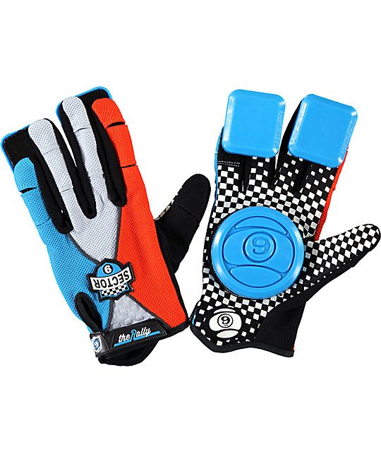 Sector 9 Rally Boys Blue Slide Gloves