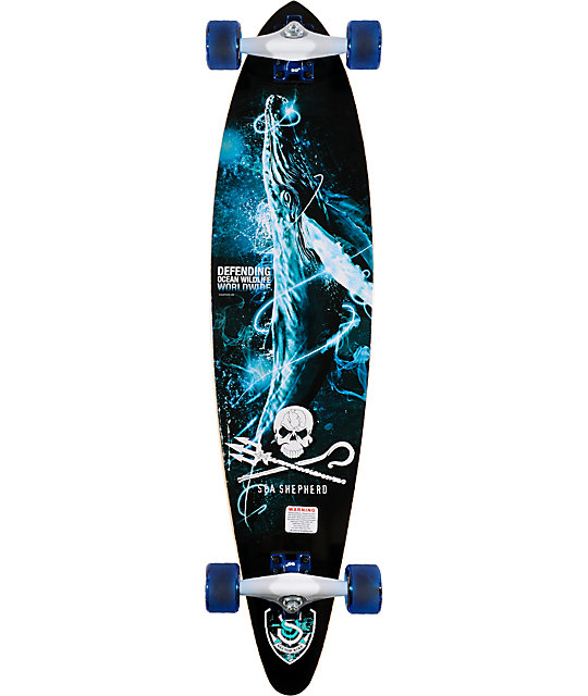 "Sector 9 SS Sea No Evil 38""  Pin Tail Longboard Complete"