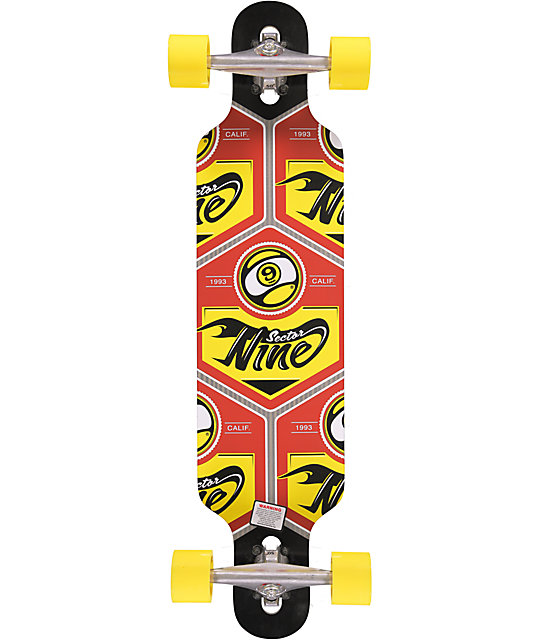 "Sector 9 Seeker 37""  Drop Through Complete Longboard"